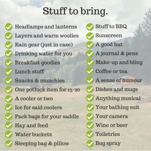 What to bring. (2)