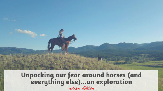 Unpacking our fear around horses (and everything else)…